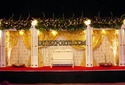 Decrated Backdrop With Square Pillars