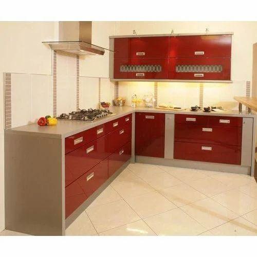 Modular Kitchen Designing Services: L Shaped Modular Kitchen Service