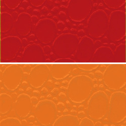 Orange Colored PVC Leather Cloth