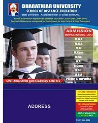 Bharathiar University Notice