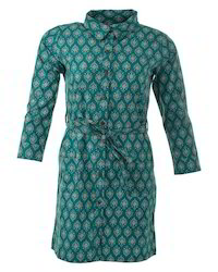 Green Print Shirt Tunic
