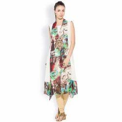 Casual Stylish Ladies Designer Long Printed Kurti