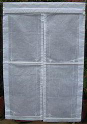 White Curtain Noren Style