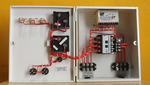 Control panel board single phase star dela double timer control panel board single phase star dela double timer manufacturer from coimbatore asfbconference2016 Images