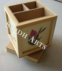 Revolving Pen Stand and Card Holder