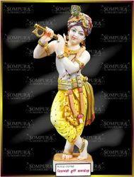 White Marble Krishna Murti