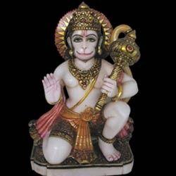 Seated Lord Hanuman Ji From Marble