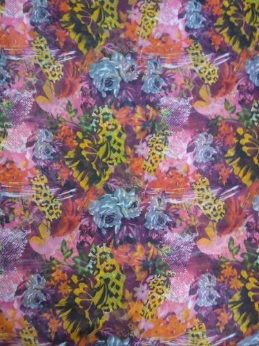Poly Silver Chiffon Fabric