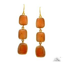 natural red jasper gemstone silver earring jewelry