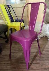 Vintage Industrial Purple Dining Chair