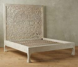 Carved Headboard Bed