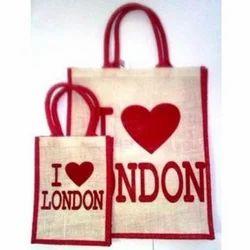I Love London Jute Bag