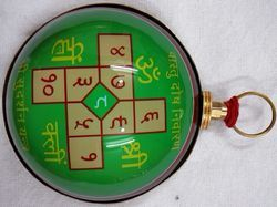 Vaastu Donivaran Hanging Colorful Yantra Covered With Brass
