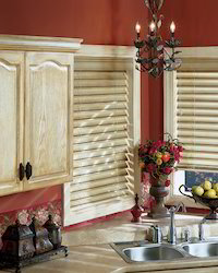 Country Wood Kitchen Blind