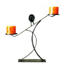 Designer Aluminum Candle Holder
