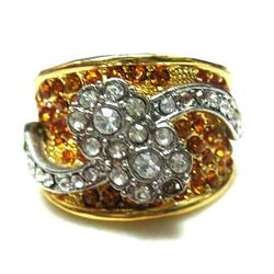 Stone Kundan Fancy CZ Ring