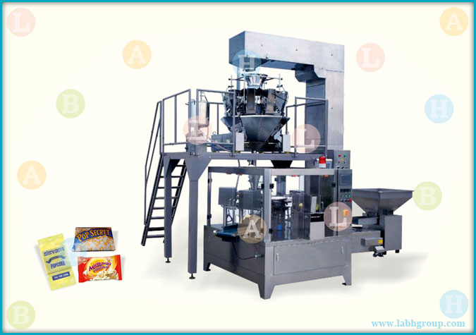 Automatic Horizontal Pick Fill and Seal Pouch Packaging Machine for Microwave Pop Corn