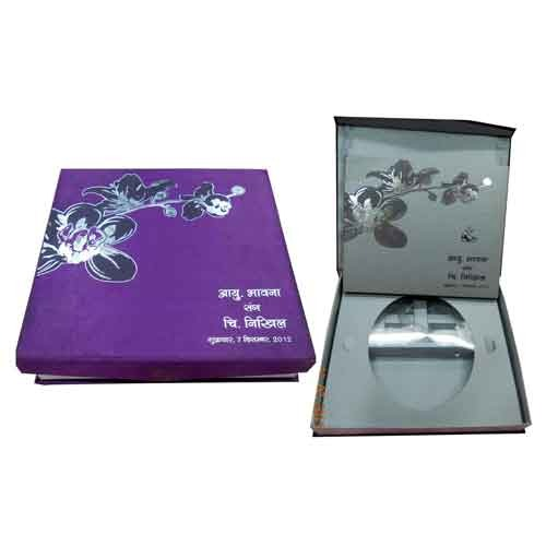 Wedding Card Boxes Wedding Invitation Card Box Manufacturer from – Purple Wedding Card Box
