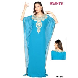 Blue Designer Ladies Caftan