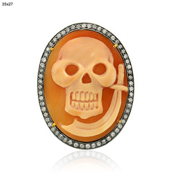 Skull Shape Cameo Connector Finding