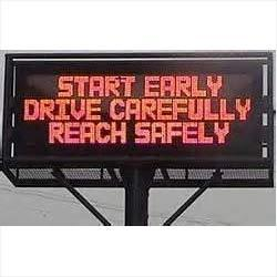 led moving message display board