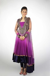 Pink Purple Deep Back Anarkali