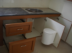 Sink with Modular Kitchen