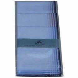 Plain White Cotton Handkerchief