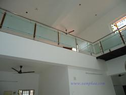 Forseted Glass with Wooden Handrail