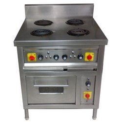 4 hob electric stove with oven