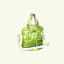 Green Leather Hand Bags