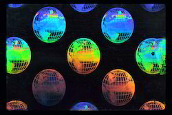 Revolving Globe Earth Holographic Overlay