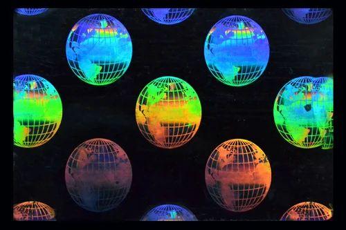 Revolving Globe Earth Holographic Overlay