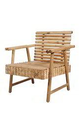 Single Seat Sofa Unit In Round Bamboo