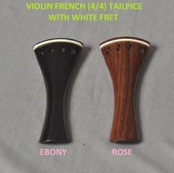 Violin French Tailpeace with White Fret