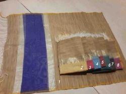 Handloom On Gicha Silk Palllu Made Of Net Dupatta
