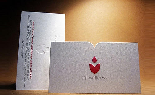 Embossed business card design service brochure design service embossed business card design service reheart Image collections