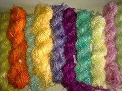 Sari Silk Yarns In Solid Colors For Yarn Stores