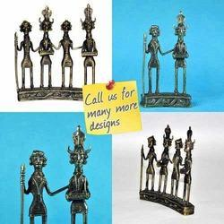 Tribal Dance Theme Folk Art Sculpture