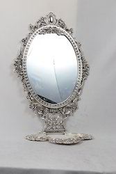 Imported White Metal Mirror