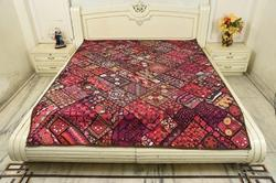 Paki Indian Handmade Antiq Wallhanging Bed Cover