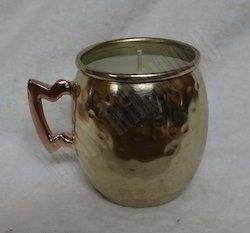 Mini Mug Votive Holder Brass Finish