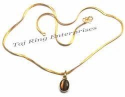 Tiger Stone Pendant Necklace