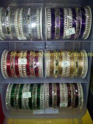 Assorted Color Stone Designer Bangle Set