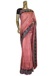 Red Color Tussar Saree