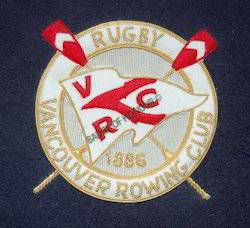 Rugby-Vancouver Rowing Club Embroidered Badge