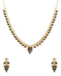 Gold Plated AD Necklace Set