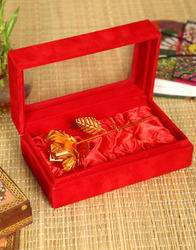 beautiful gold plated brass rose