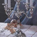 Silver Plated Embossed Candle Holder Set