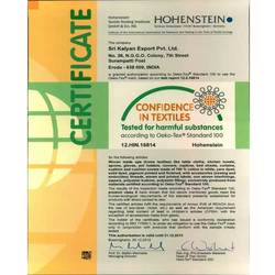 OEKO TEX Standard 100 Certificate